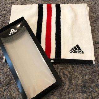adidas - 新品 未使用 adidas スポーツタオル ホワイト サッカー アディダス