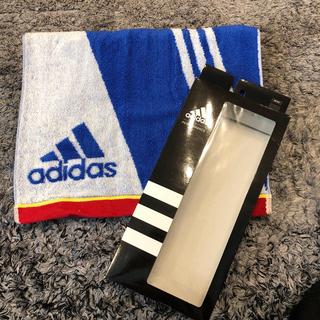 adidas - 新品 未使用 アディダス スポーツタオル ブルー adidas サッカー