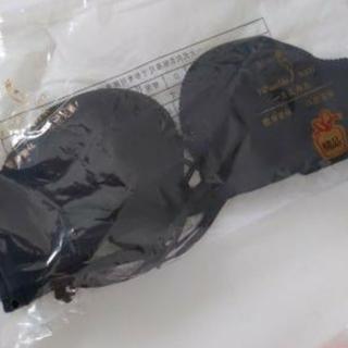 編み上げストラップレスブラ 黒 A70(ブラ)