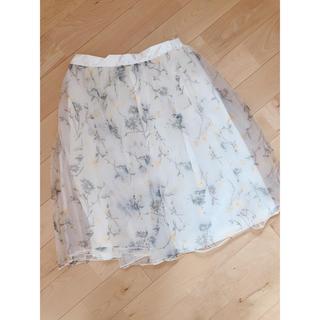 しまむら - しまむら 花柄スカート チュールスカート