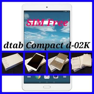 エヌティティドコモ(NTTdocomo)の【SIMフリー/新品未使用】docomo dtab Compact d-02K(タブレット)