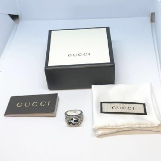 Gucci - 【グッチ】リング指輪 GG ロゴ 11号 シルバー925 インターロッキングG