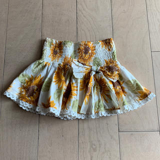 リズリサ(LIZ LISA)のひまわり柄 スカート(ミニスカート)