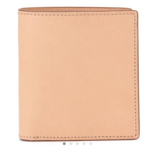 ムジルシリョウヒン(MUJI (無印良品))の【無印良品】ヌメ革コインポケット付二つ折り財布 生成(折り財布)