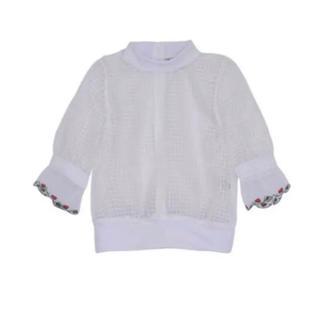 パメオポーズ(PAMEO POSE)のpameo pose rose net tops(カットソー(半袖/袖なし))
