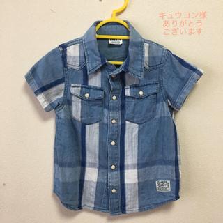 ブリーズ(BREEZE)の専用  BREEZE   デニムシャツ 半袖シャツ  サイズ100(ブラウス)