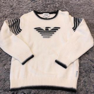 ARMANI JUNIOR - 美品 ARMANI junior セーター ホワイト 七五三 アルマーニジュニア