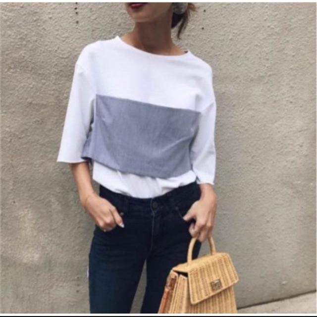 Ameri VINTAGE(アメリヴィンテージ)のW RAPPING TS ameri レディースのトップス(Tシャツ(半袖/袖なし))の商品写真