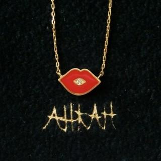 AHKAH - アーカー ダイヤモンド付リップモチーフネックレス/ダイヤモンドキスネックレス