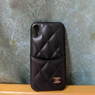 シャネル(CHANEL)の新品 iphone XR ケース シャネル iphoneXR 黒 ブラック(iPhoneケース)