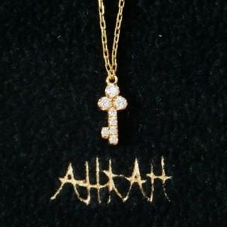AHKAH - 【タイムセール】アーカー ダイヤモンド付キー/鍵モチーフのK18ネックレス