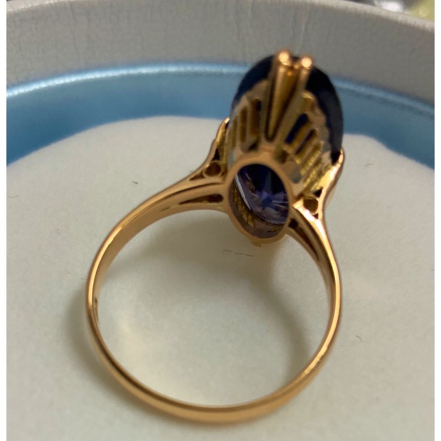 アンティーク★昭和ジュエリー★指輪★パープル★ レディースのアクセサリー(リング(指輪))の商品写真