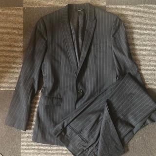 ドルチェアンドガッバーナ(DOLCE&GABBANA)のドルガバ スーツ サイズ48 ドルチェ&ガッパーナ  黒 ブラック M L(セットアップ)