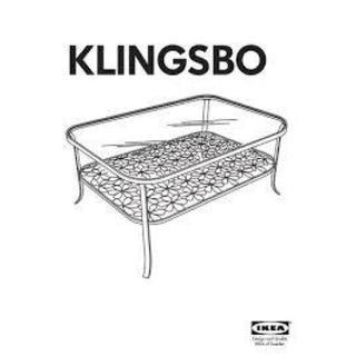 イケア(IKEA)のIKEA 美品 KLINGSBO 強化ガラステーブル フラワー花柄 棚置きイケア(ローテーブル)