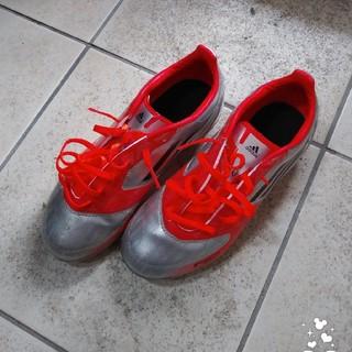 アディダス(adidas)のコロン様専用 adidas サッカー スパイク シルバー×オレンジ 22.5(シューズ)