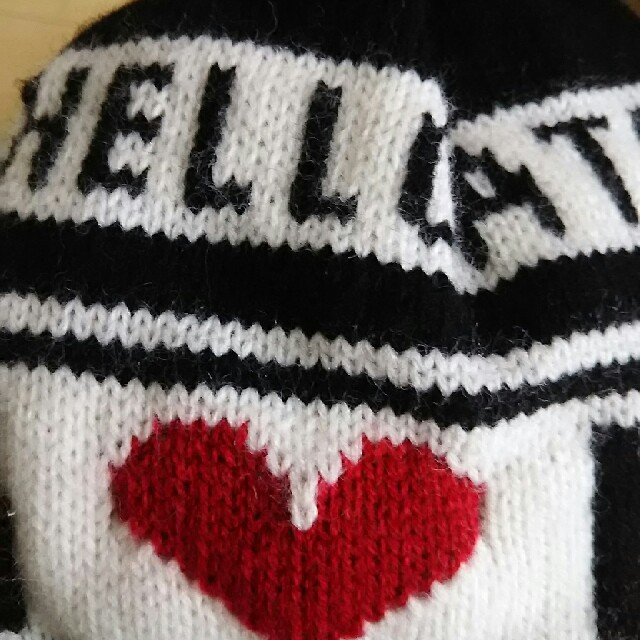 HELLCATPUNKS(ヘルキャットパンクス)のヘルキャットパンクス ニット帽 レディースの帽子(ニット帽/ビーニー)の商品写真