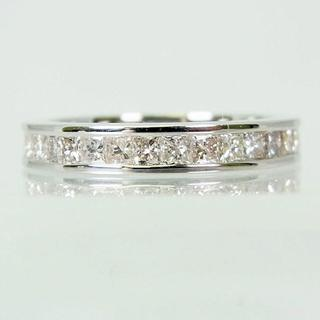 K18WG ダイヤモンド リング 10号[f6-31](リング(指輪))
