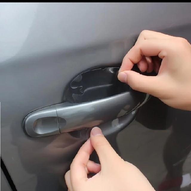 ハンドル保護フィルム車外装透明ステッカー 自動車/バイクの自動車(車外アクセサリ)の商品写真