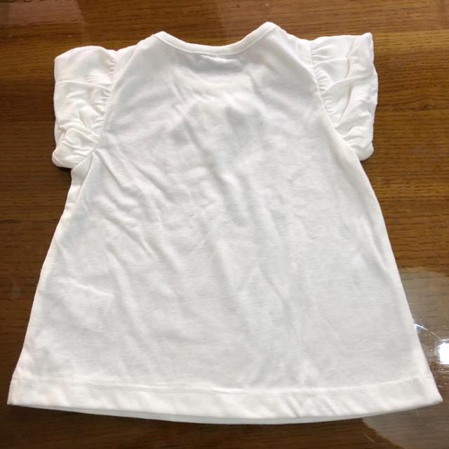 しまむら(シマムラ)のベビー リボンTシャツ キッズ/ベビー/マタニティのベビー服(~85cm)(Tシャツ)の商品写真