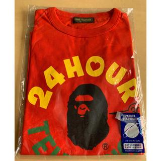 アベイシングエイプ(A BATHING APE)のエイプ  24時間テレビTシャツ SSサイズ 赤(Tシャツ(半袖/袖なし))