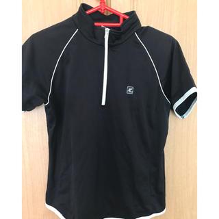 クレージュ(Courreges)のクレージュの黒テニスウェア・ゲームシャツ・レディース(ウェア)