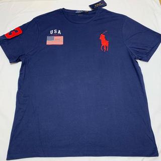 ラルフローレン(Ralph Lauren)の新品 ラルフローレン ビッグポニー Tシャツ   XL ポロ メンズ 国旗柄(Tシャツ/カットソー(半袖/袖なし))