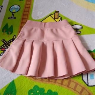 ユニクロ(UNIQLO)の美品☆ユニクロ ピンクのプリーツスカート S サイズ(スカート)