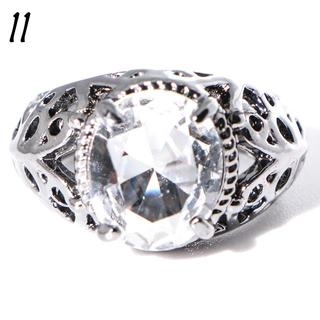 W22 リング 11号 人工石 ホワイトサファイア ブラックゴールド(リング(指輪))