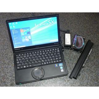 パナソニック(Panasonic)のSSD 960GB メモリ 16GB パナソニック 黒 レッツノート SX1(ノートPC)