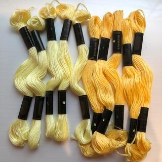 オリンパス(OLYMPUS)のオリンパス刺繍糸 黄色セット(生地/糸)