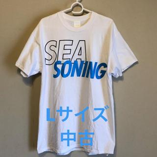 Ron Herman - L wind and sea × seasoning コラボ Tシャツ 白 中古