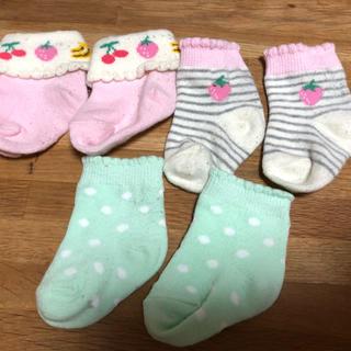 ニシマツヤ(西松屋)の新生児向け 靴下3点セット(靴下/タイツ)