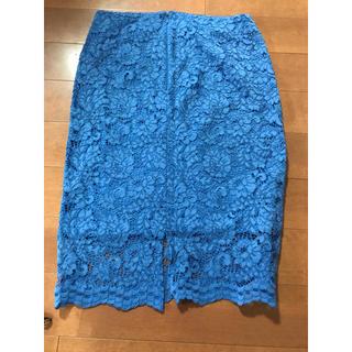 ジーユー(GU)のGU レーススカート(ひざ丈スカート)