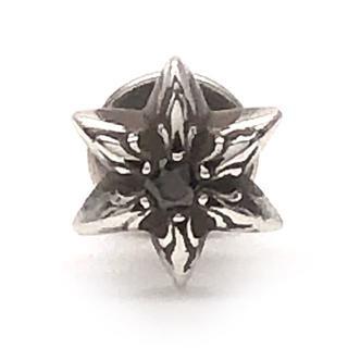 クロムハーツ(Chrome Hearts)のクロムハーツ スター スタッド ピアス ウィズ ブラックダイヤモンド(ピアス(片耳用))