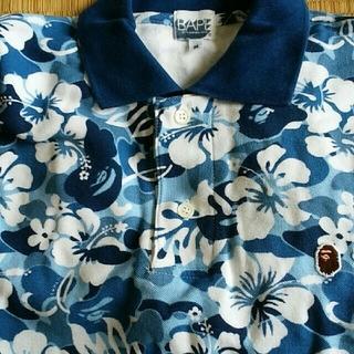 アベイシングエイプ(A BATHING APE)のアロハカモポロシャツ(ポロシャツ)