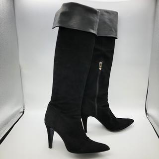 ダイアナ(DIANA)の美品 ダイアナ DIANA ニーハイブーツ ロングブーツ 25cm 黒 パンプ(ブーツ)