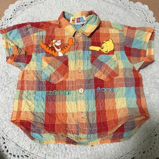 ディズニー(Disney)の値下げ!プーさん 半袖シャツ 80cm(シャツ/カットソー)