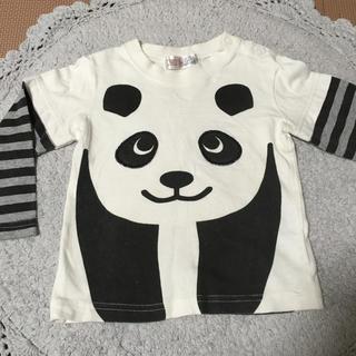 パンダ 長袖Tシャツ 90cm(Tシャツ/カットソー)