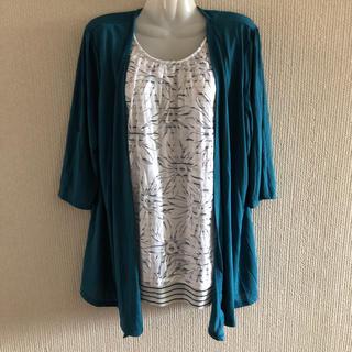 シマムラ(しまむら)の新品 重ね着風 7部袖 カットソー(カットソー(長袖/七分))