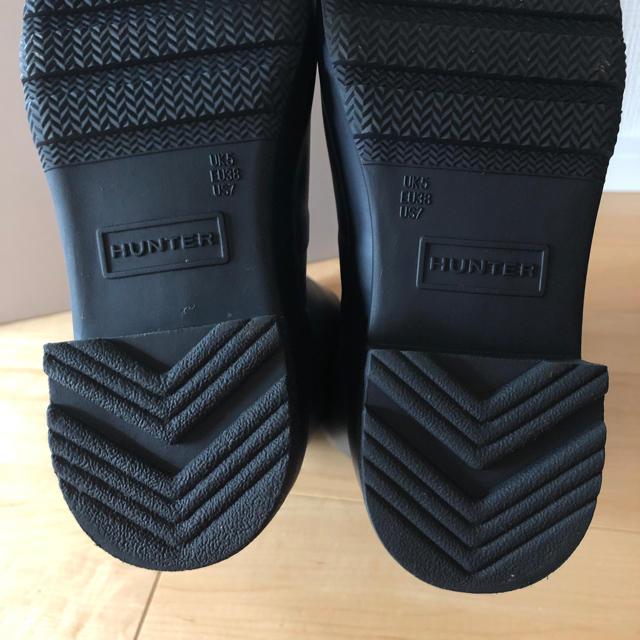 HUNTER(ハンター)のHUNTER レインブーツ 試着のみ 美品 EU38 24cm レディースの靴/シューズ(レインブーツ/長靴)の商品写真