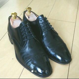 アーバンリサーチ(URBAN RESEARCH)のアーバンリサーチビジネスシューズ 革靴 ストレートチップ 黒 7(ドレス/ビジネス)
