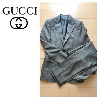 グッチ(Gucci)のGUCCI☆グッチ☆スーツ☆セットアップ☆ジャケット☆ツイード☆ウール☆グレー(セットアップ)