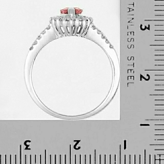 パパラチア サファイア リング プラチナ サファイヤ 指輪 Pt900 鑑別書付(リング(指輪))