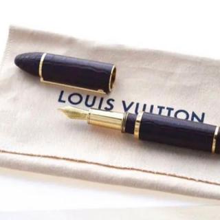 ルイヴィトン(LOUIS VUITTON)の★ルイヴィトン★カーゴアリゲーター★万年筆★ペン先K18YG★750YG(その他)