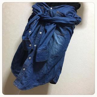 ダブルクローゼット(w closet)の[ROPE' PICNIC]ダンガリーシャツ デニム風シャツ(シャツ/ブラウス(長袖/七分))