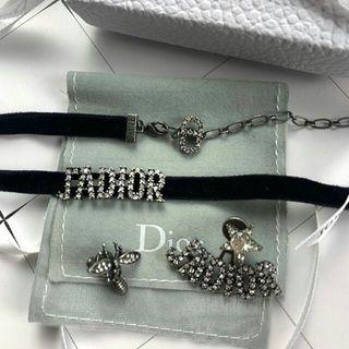クリスチャンディオール(Christian Dior)のディオールピアス ディオールチョーカー セット(ネックレス)