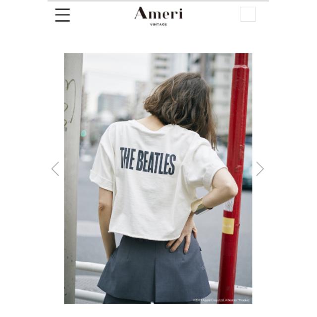Ameri VINTAGE(アメリヴィンテージ)の【新品未開封】ameri vintage アメリ ビートルズ Tシャツ  レディースのトップス(Tシャツ(半袖/袖なし))の商品写真
