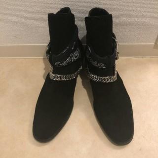 サンローラン(Saint Laurent)の美品 正規品 AMIRI アミリ チェーンバックルスエードブーツ(ブーツ)