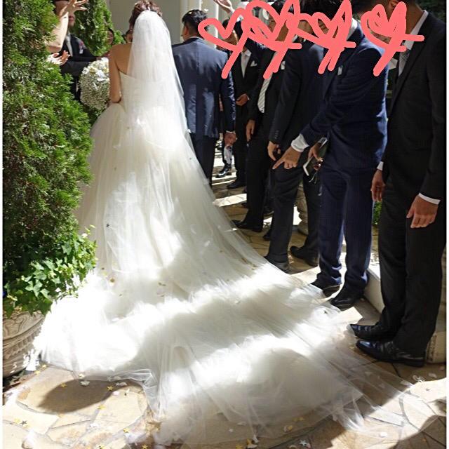 Vera Wang(ヴェラウォン)のヴェラウォン バレリーナ  スペシャルトレーン レディースのフォーマル/ドレス(ウェディングドレス)の商品写真