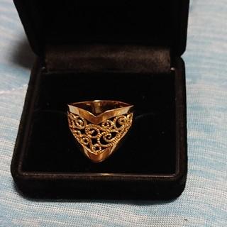 K18透かし彫りリング(リング(指輪))